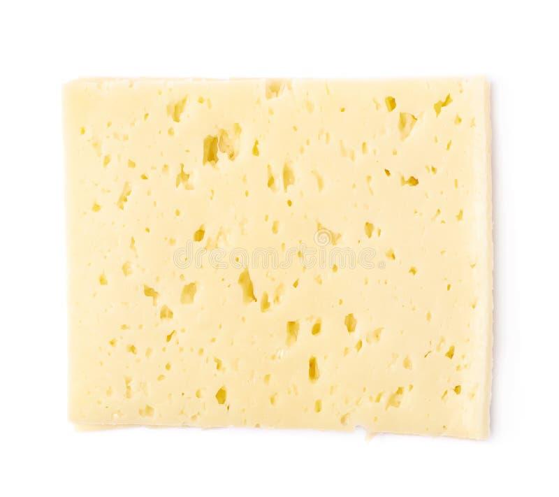 Única fatia de queijo isolada foto de stock