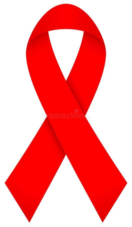 Única fita gráfica vermelha curvada com sombra ilustração stock