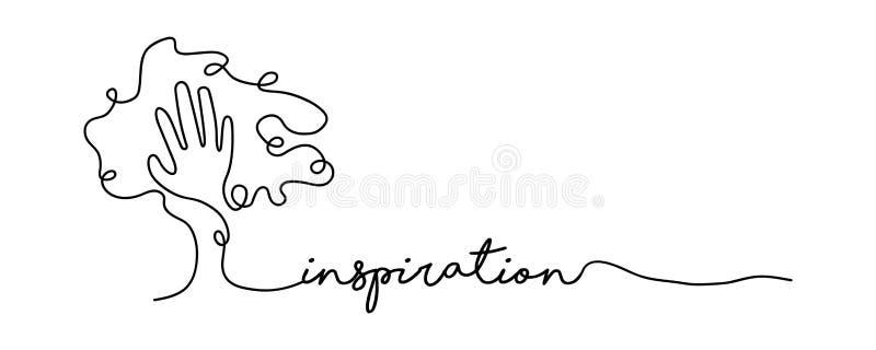 Única linha conceito da inspiração da bandeira da Web ilustração stock