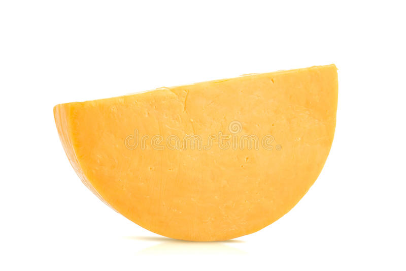 Única meia roda de Colby Cheese imagens de stock royalty free