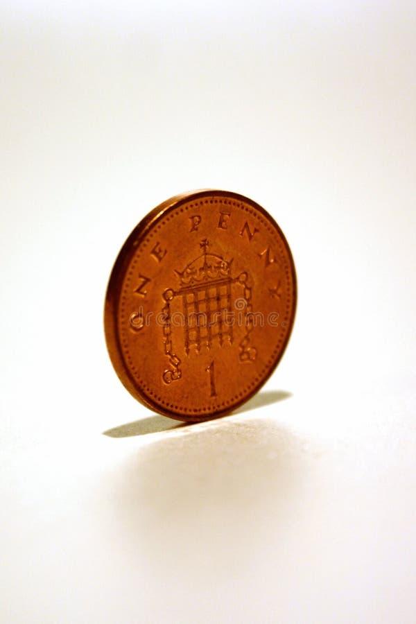 Única moeda de um centavo fotos de stock royalty free