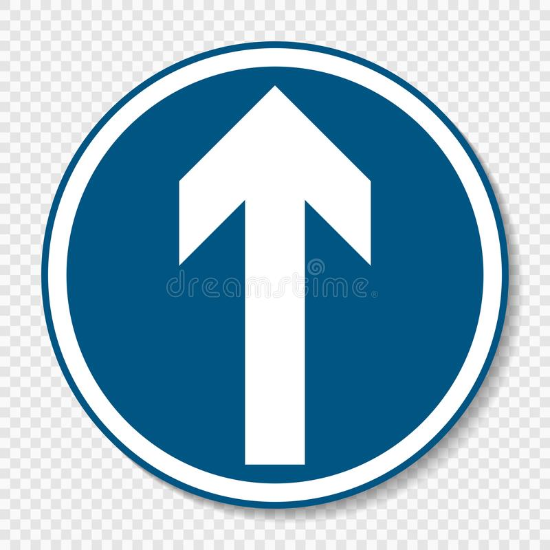 Única muestra del símbolo a continuación en fondo transparente libre illustration