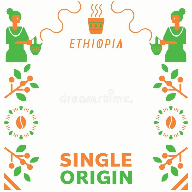 Única origem Etiópia com barista local ilustração royalty free