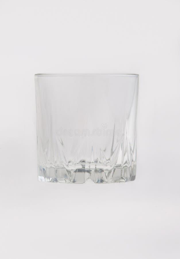 Única secadora de roupa transparente vazia Glass da tabela imagem de stock