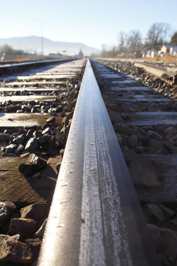 Única trilha Railway fotografia de stock