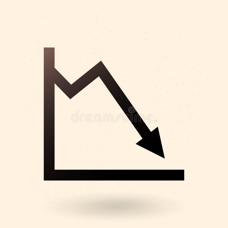 Único ícone analítico do vetor - gráfico ilustração royalty free