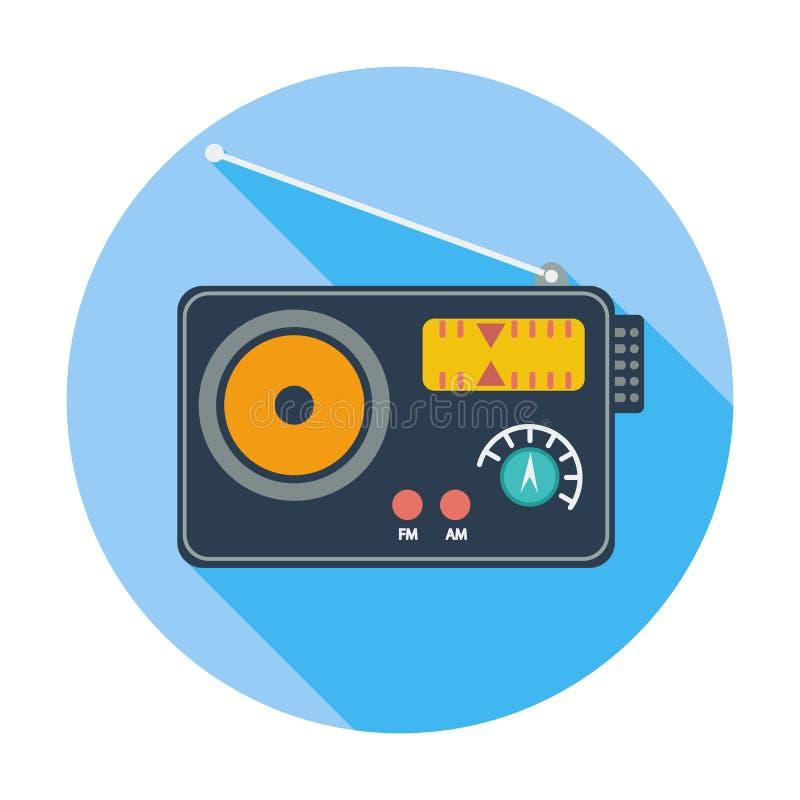 Único ícone de rádio ilustração royalty free
