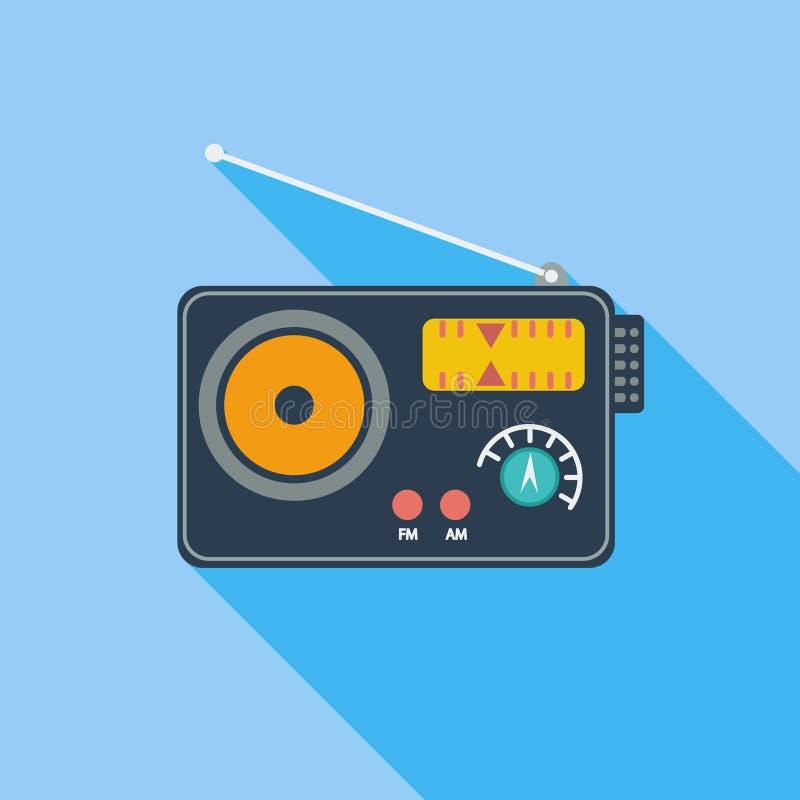 Único ícone de rádio ilustração stock