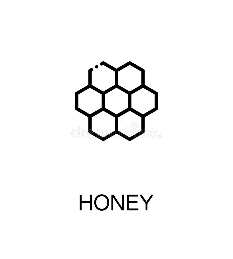 Único ícone do mel ilustração royalty free