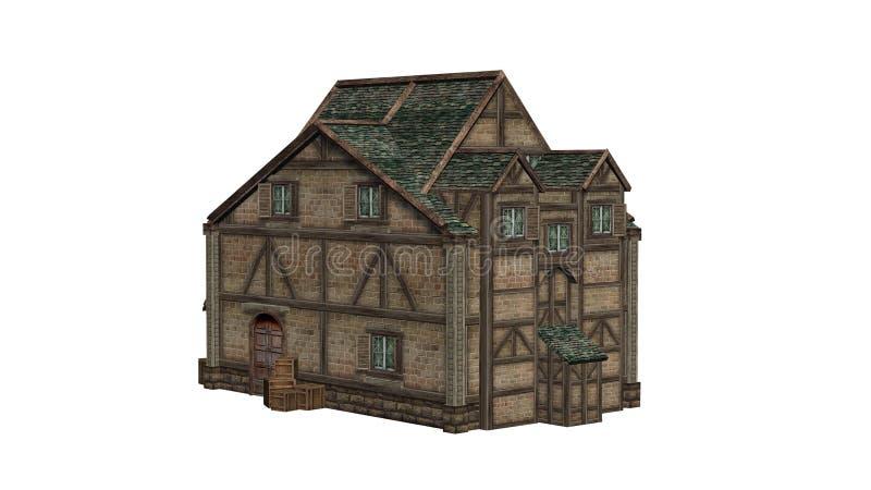 Único armazém velho medieval ilustração do vetor
