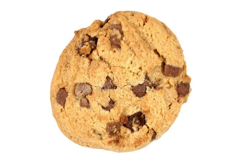 Único biscoito do bolinho de microplaqueta de chocolate fotos de stock royalty free