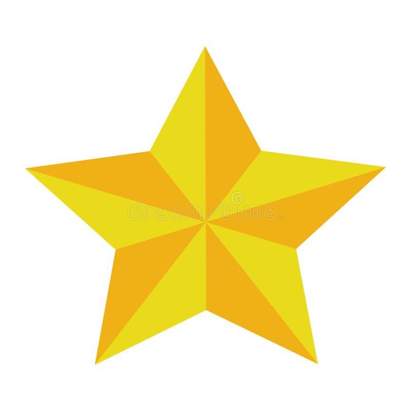 ?nico brilho dourado da estrela ilustração do vetor