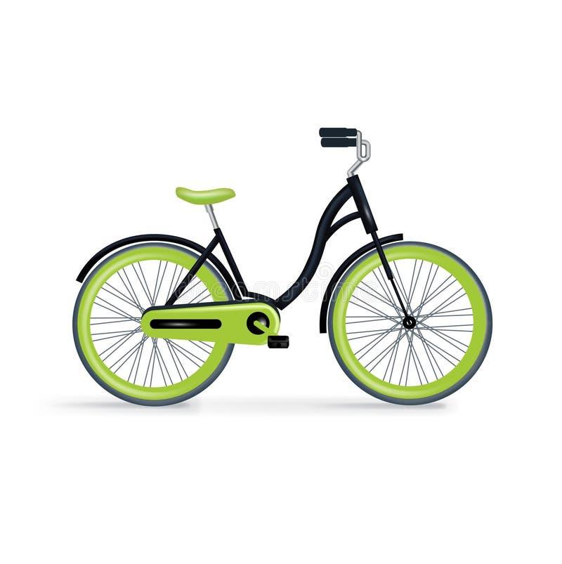 Único bycicle isolado no branco ilustração royalty free
