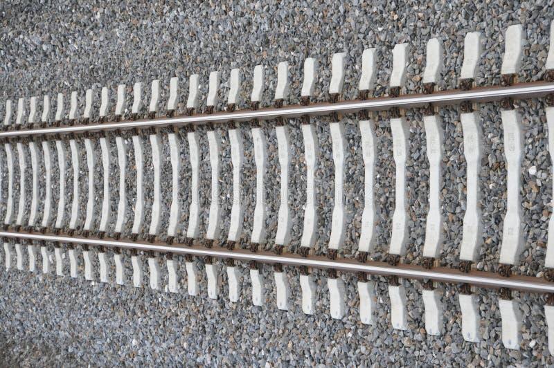 Único caminho de ferro foto de stock