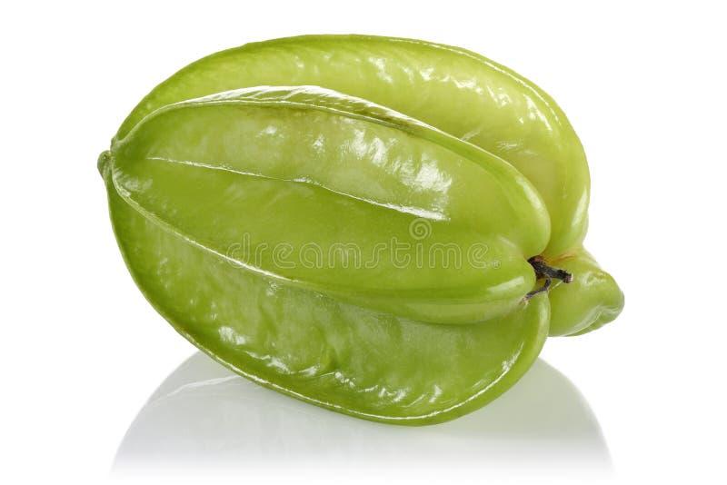 Único carambola inteiro, starfruit imagem de stock