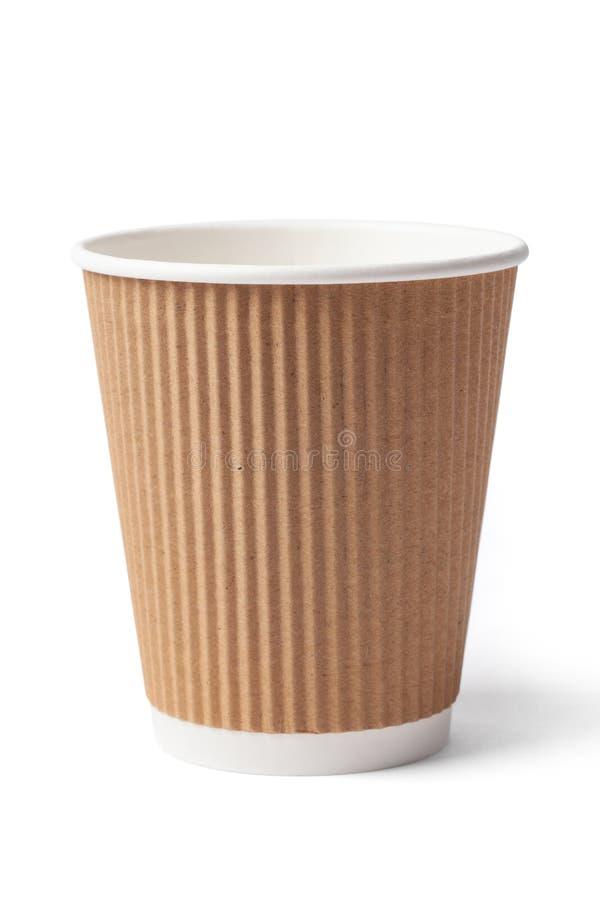 Único copo de café do cartão fotos de stock