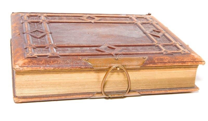 Único livro encadernado de couro velho imagem de stock royalty free