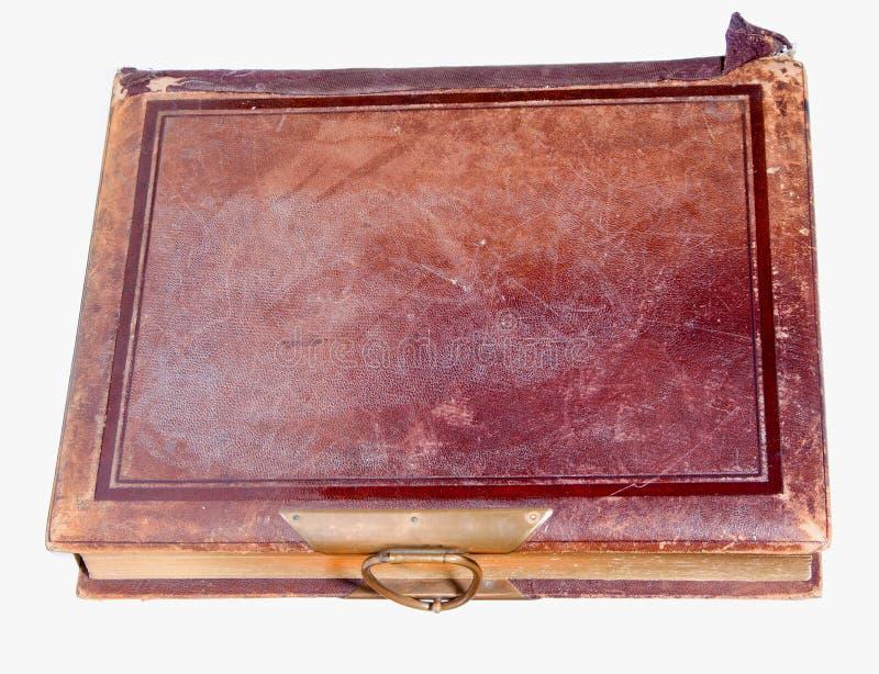 Único livro encadernado de couro velho foto de stock royalty free