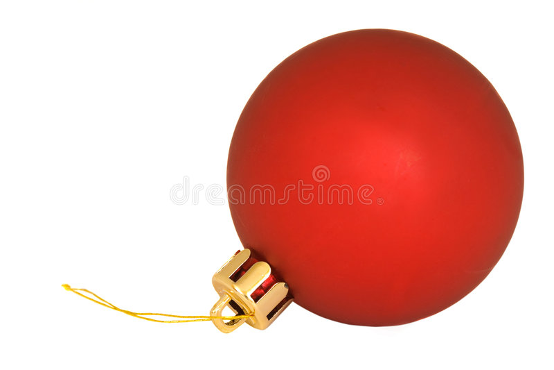 Único ornamento vermelho do Natal imagem de stock
