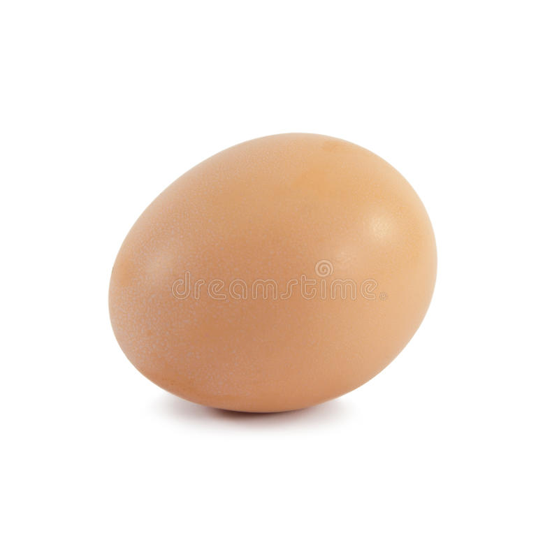 Único ovo isolado no branco foto de stock