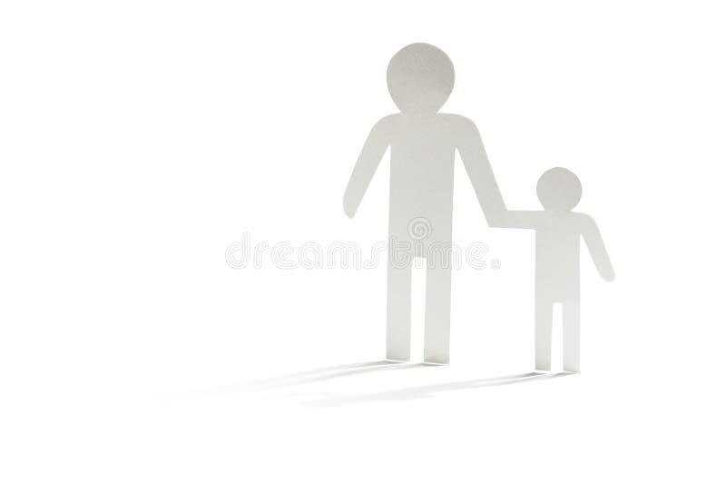 Único pai com filho imagens de stock