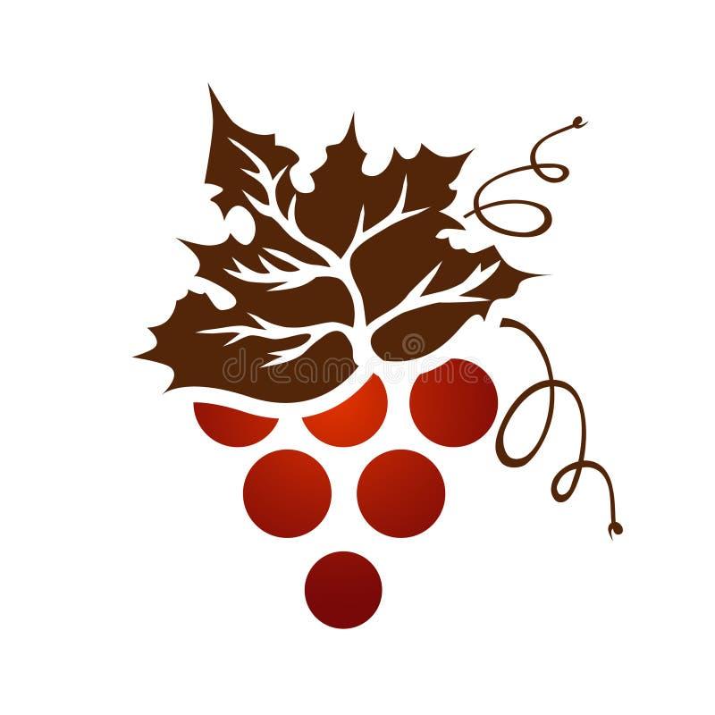 Único ramo da uva do vintage ilustração stock