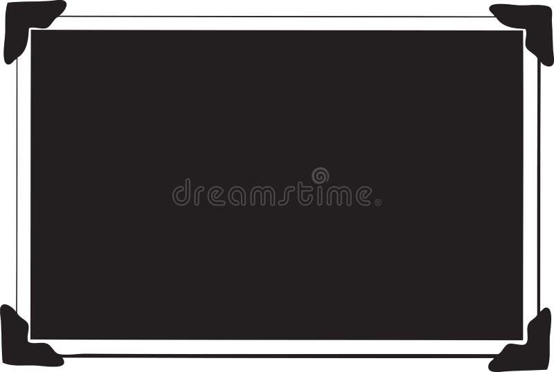 Único retrato em branco ilustração royalty free