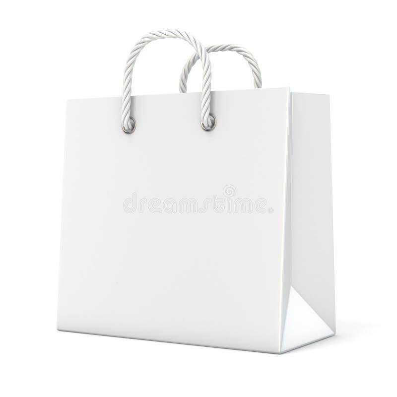 Único, saco de compras vazio, vazio 3d ilustração stock
