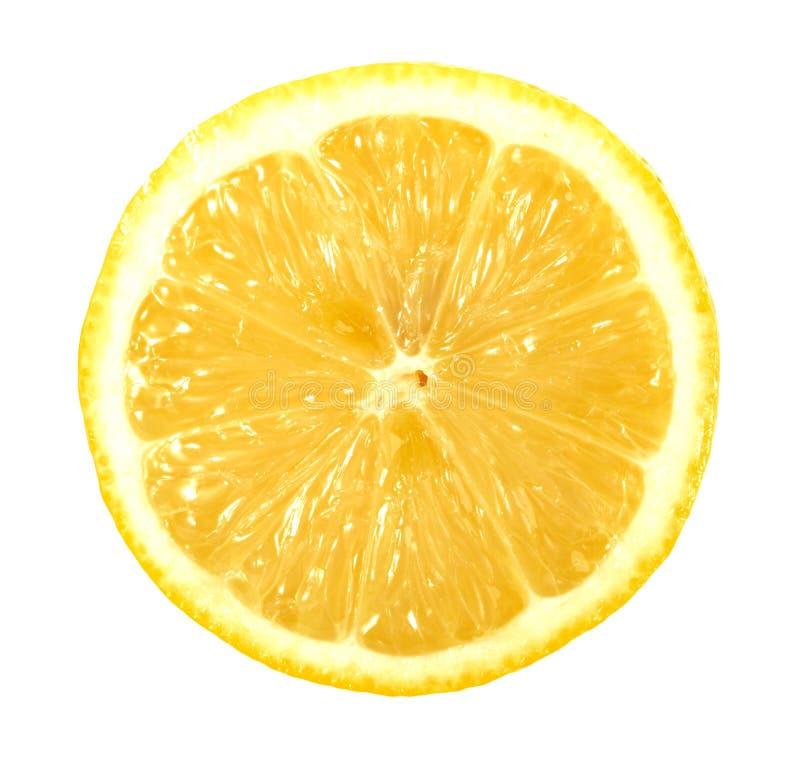 Único secção transversal do limão foto de stock