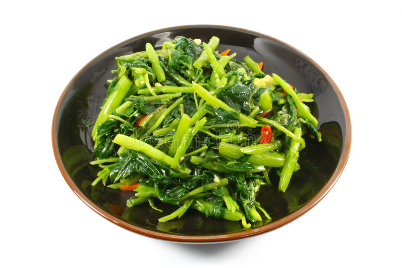 Único serviço de vegetais chineses imagens de stock royalty free