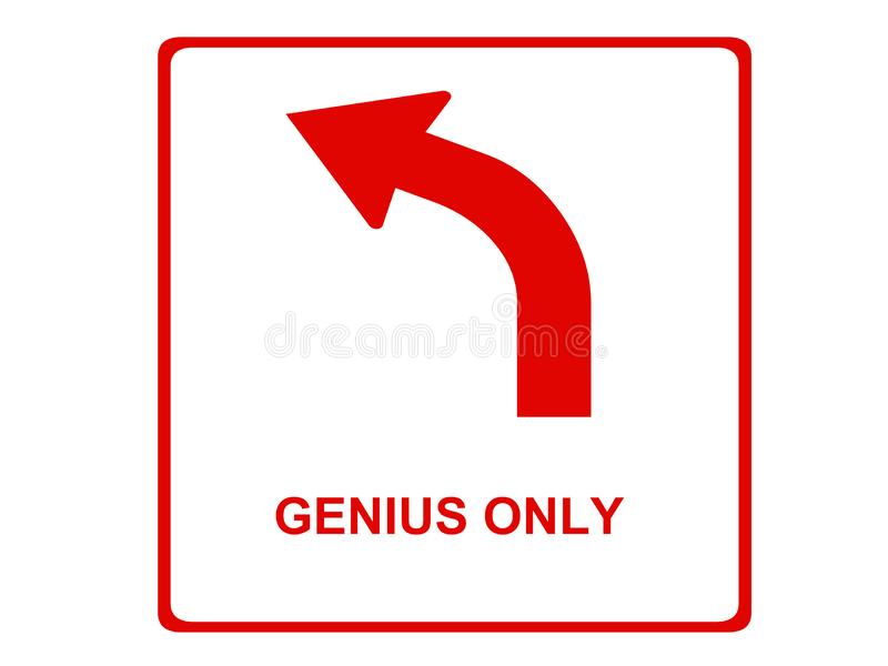 Único sinal do gênio para o ponto da informação imagem de stock
