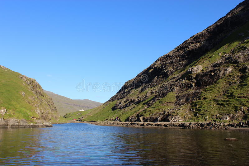 úti á lógv, Saksun, Faroe Islands stock images