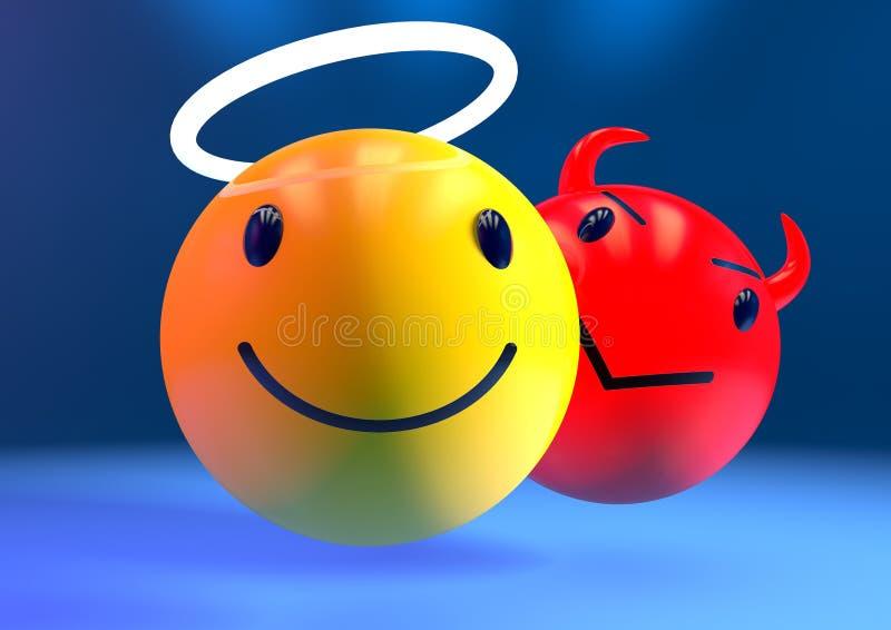 Übel im Hintergrund emoji vektor abbildung