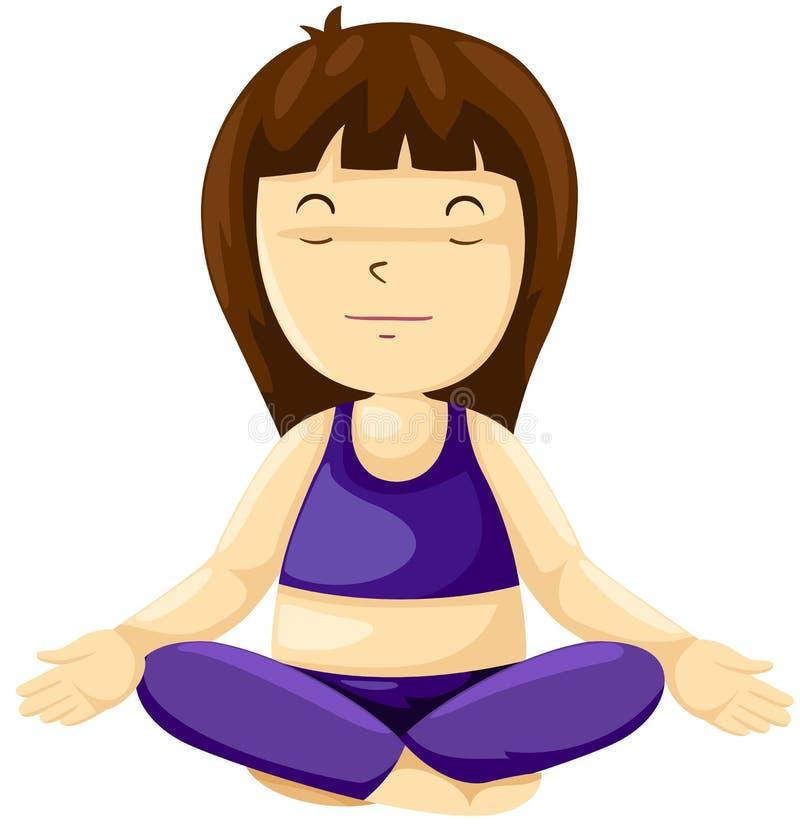 Übendes Yoga des Mädchens vektor abbildung