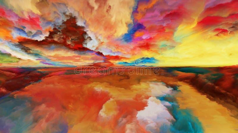 Über abstrakter Landschaft hinaus lizenzfreie abbildung