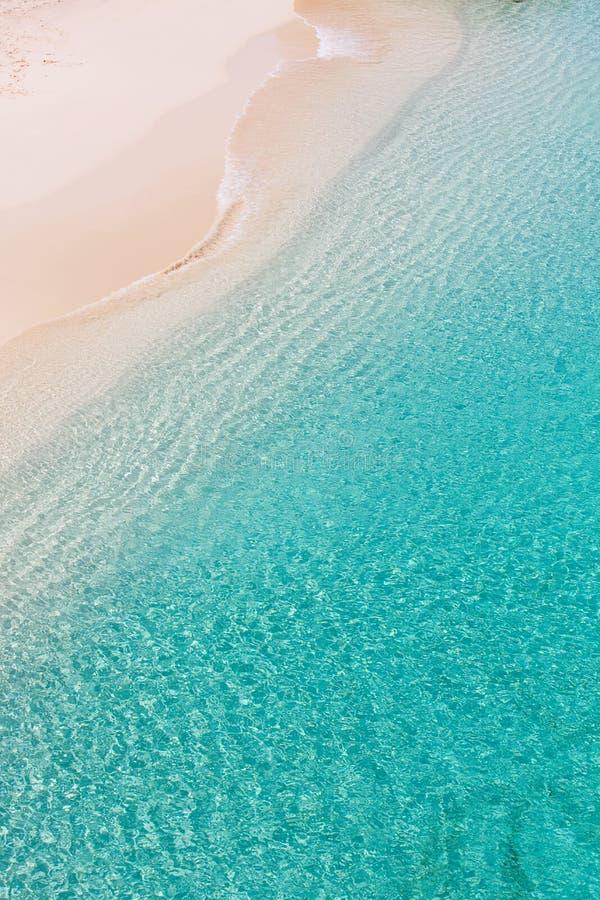 Über Ansicht an Anguilla-Strand lizenzfreie stockbilder