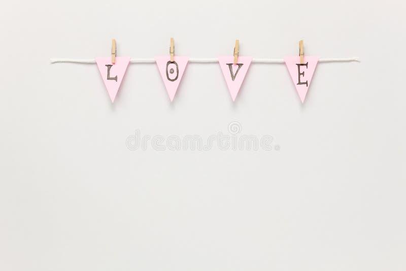 Über Ansichtluftbild des Valentinsgruß ` s Tageshintergrundkonzeptes lizenzfreies stockfoto