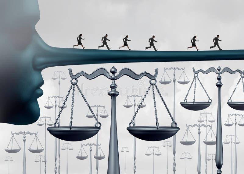 Über dem Gesetz stock abbildung