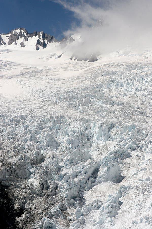 Über dem Gletscher lizenzfreie stockbilder