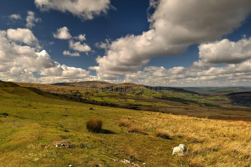 Über den Hügeln stockfoto