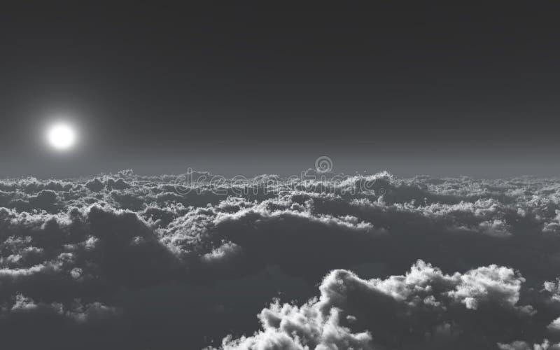 Über den kalten Wolken stock abbildung