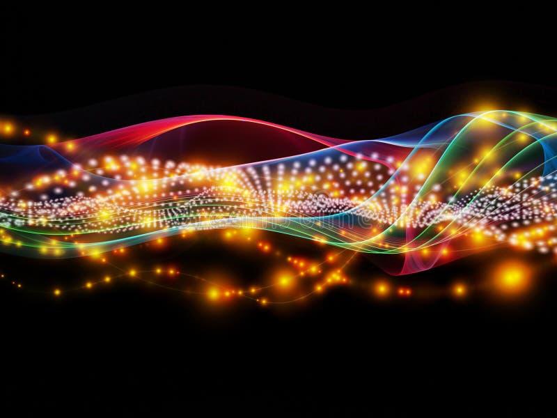 Über dynamischem Netz hinaus lizenzfreie abbildung