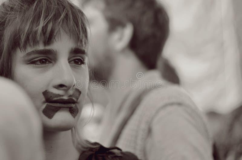 Über ein Mädchen stockfotografie