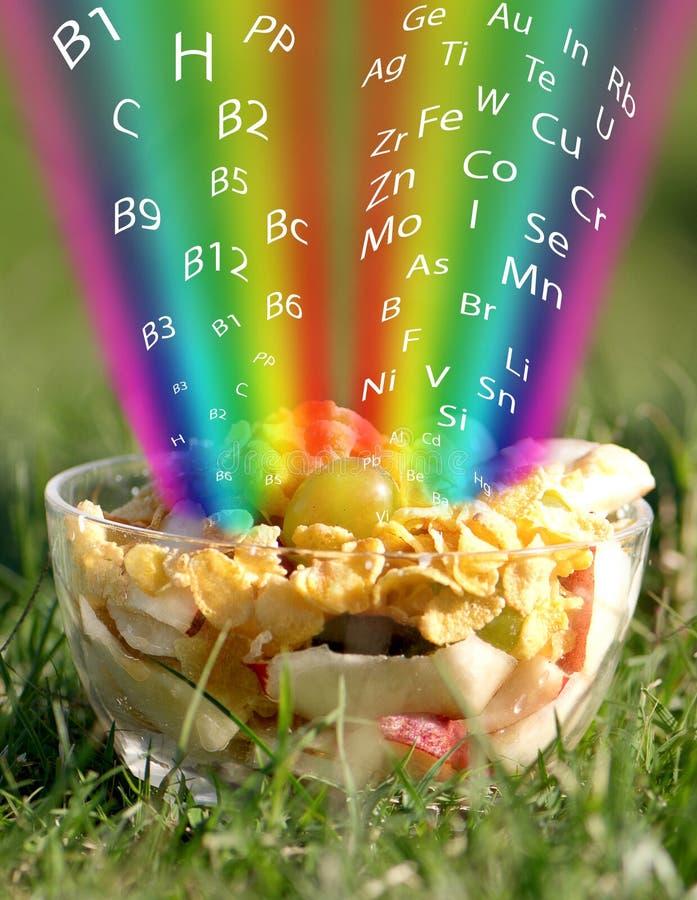 Über eine nützliche und gesunde Nahrung lizenzfreie stockbilder