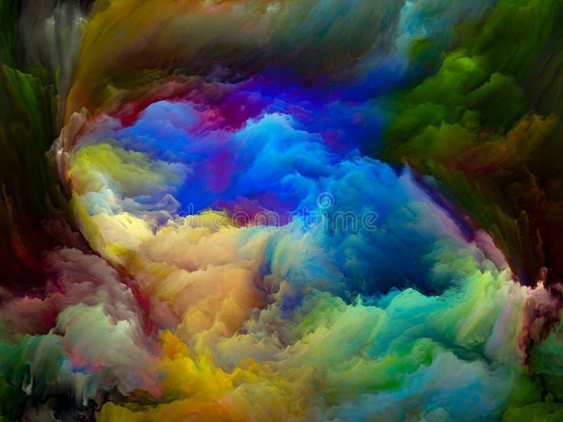 Über Farbbewegung hinaus lizenzfreie abbildung