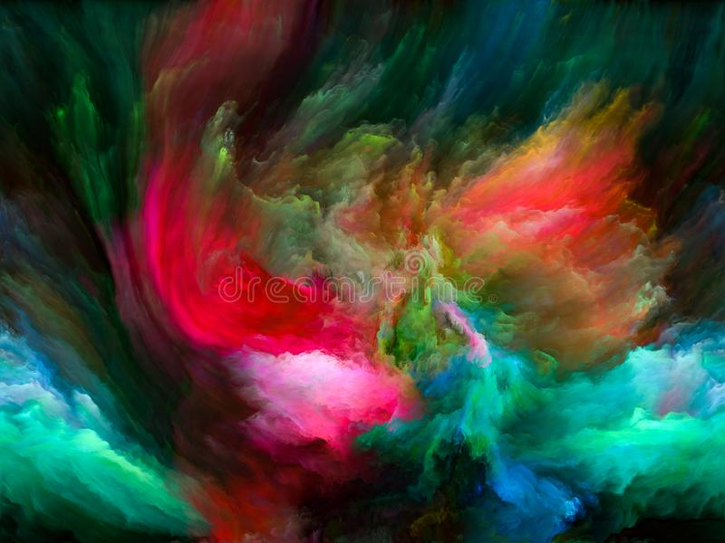 Über Farbbewegung hinaus stock abbildung