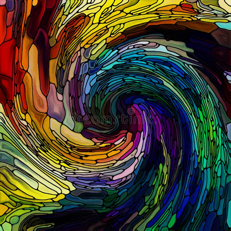 Über gewundener Farbe hinaus vektor abbildung
