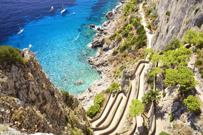 Über Krupp - Capri Italien lizenzfreie stockbilder