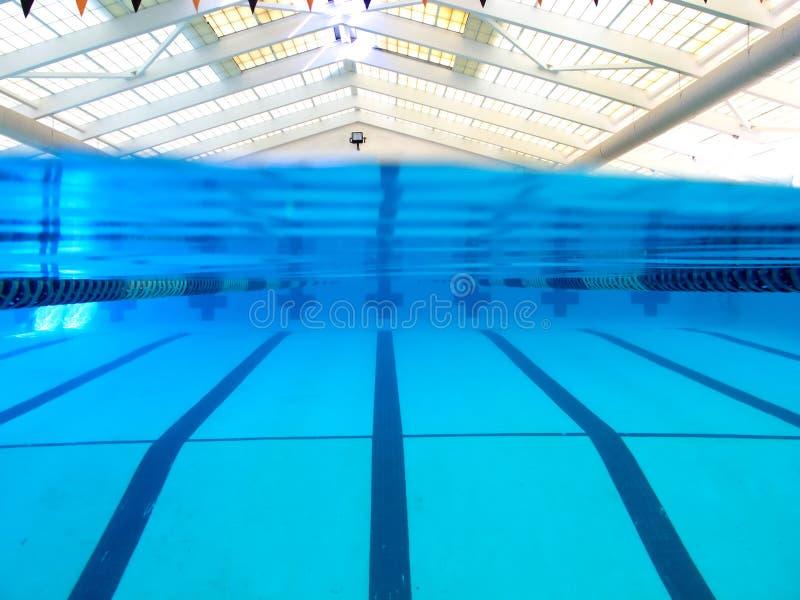 Über und unter Ansicht des Pools