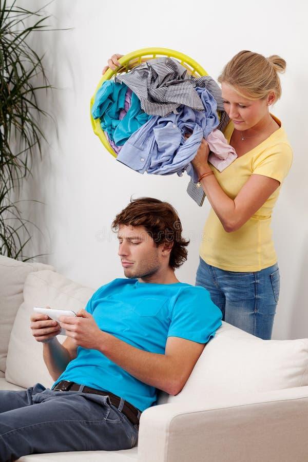 Über Wäscherei werfen stockbilder